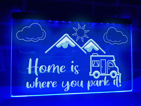 Image of Motorhome Mountain View Illuminated Sign