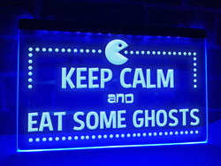Keep Calm and Eat Some Ghosts Illuminated Sign