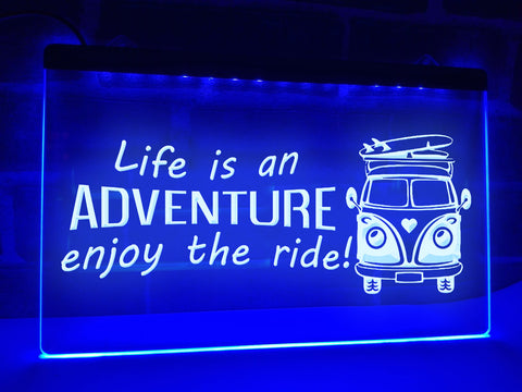 Image of Life is an Adventure Illuminated Sign