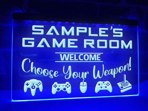 Image of Game Room Personalized Illuminated Sign