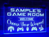 Game Room Personalized Illuminated Sign