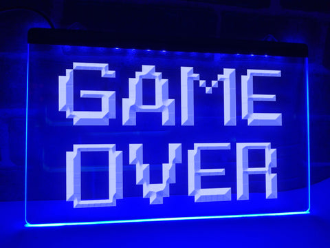 Image of Game Over Illuminated Sign