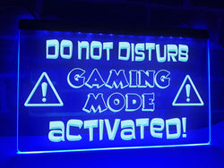 Do Not Disturb Gaming Mode Activated Illuminated Sign