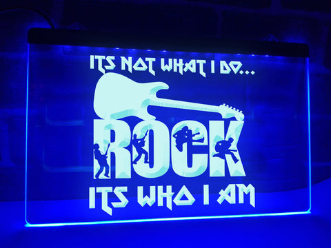 Image of Rock, It's Who I Am Illuminated Sign