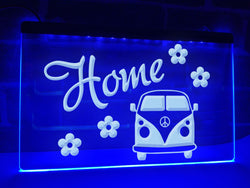 Flower Camper Illuminated Sign