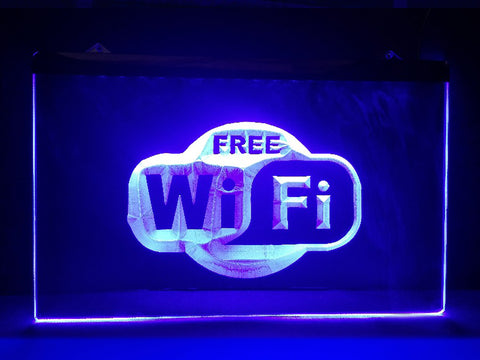 Image of Free WiFi Illuminated Sign