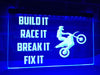 Build It Race It Illuminated Sign
