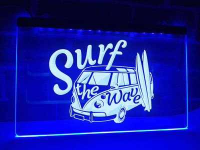 Surf The Wave Illuminated Sign