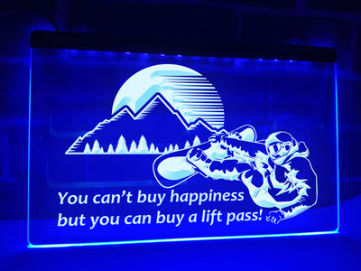 You Can't Buy Happiness Illuminated Sign