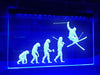 Skier Evolution Illuminated Sign