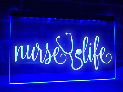 Image of Nurse Life Illuminated Sign