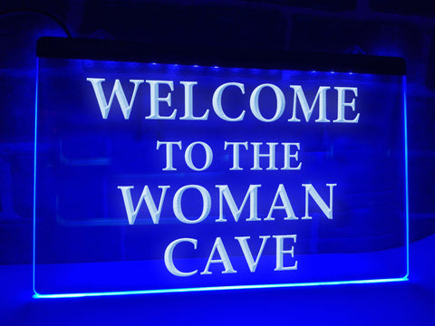 Image of Woman Cave Illuminated Sign