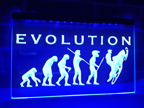 Image of Snowmobile Evolution Illuminated Sign