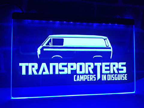 Image of Transporters Campers in Disguise Illuminated Sign