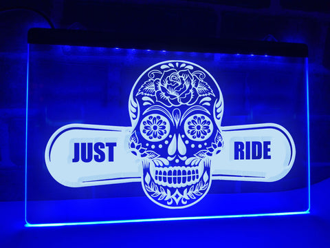 Image of Just Ride Illuminated Sign