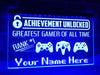Greatest Gamer Personalized Illuminated Sign