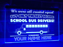School Bus Driver Personalized Illuminated Sign