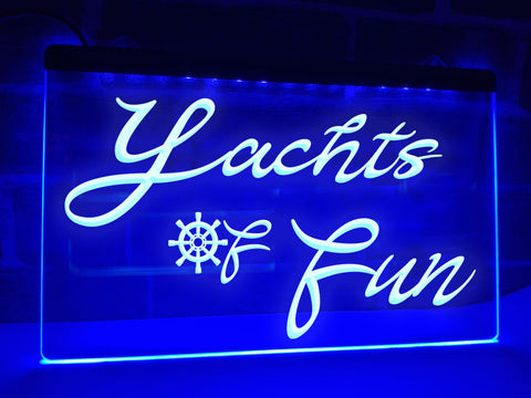 Image of Yachts of Fun Illuminated Sign
