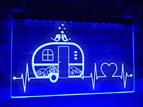 Image of Campers Heartbeat Illuminated Sign