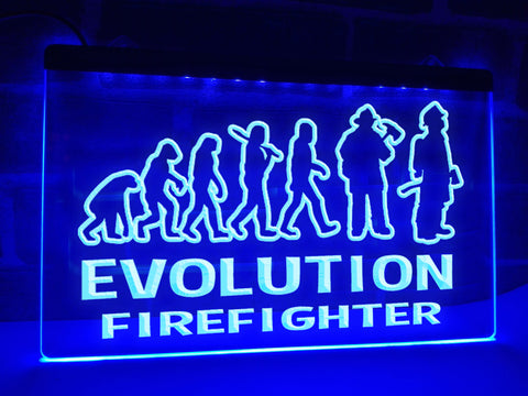 Evolution Firefighter Illuminated Sign