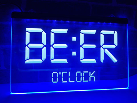 Image of Beer O'clock Illuminated Sign