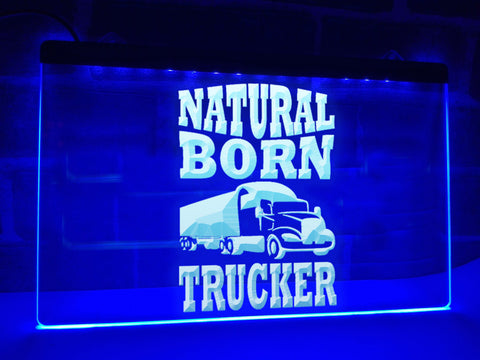 Image of Natural Born Trucker Illuminated Sign
