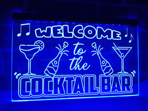 Image of Welcome to the Cocktail Bar Illuminated Sign