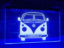 Campervan Personalized Illuminated Sign