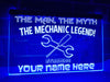 The Mechanic Legend Personalized Illuminated Sign