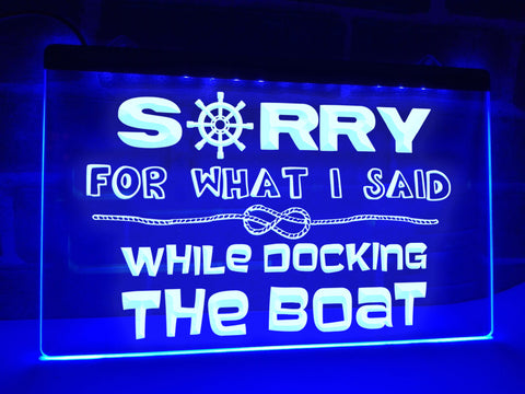 Image of Docking the Boat Funny Illuminated Sign
