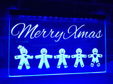 Gingerbread Men Illuminated Sign