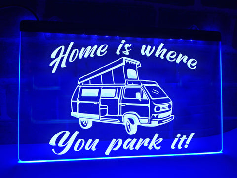 Pop Up Camper Illuminated Sign