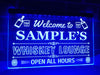 Welcome to My Whiskey Lounge Personalized Illuminated Sign
