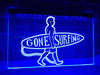Gone Surfing Illuminated Sign