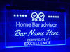 Home Bar Advisor Personalized Illuminated Sign