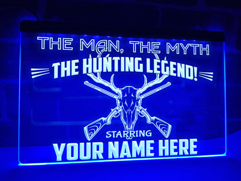 Hunting Legend Personalized Illuminated Sign