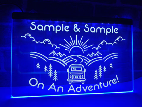 On An Adventure Personalized Illuminated Sign