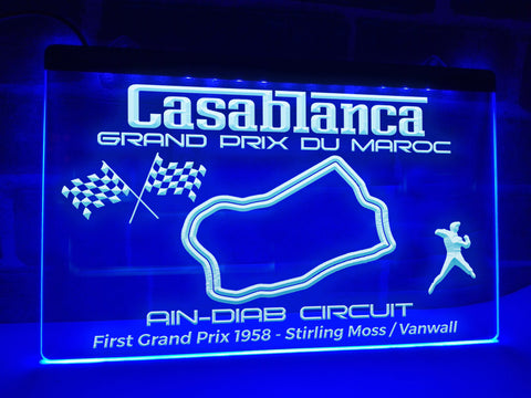 Moroccan Grand Prix Illuminated Sign