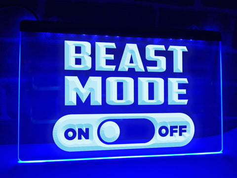 Beast Mode Illuminated Sign