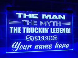 Truckin' Legend Personalized Illuminated Sign