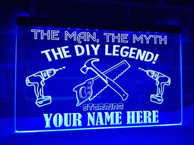 The DIY Legend Personalized Illuminated Sign