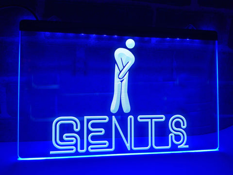 Gents Restroom Illuminated Sign