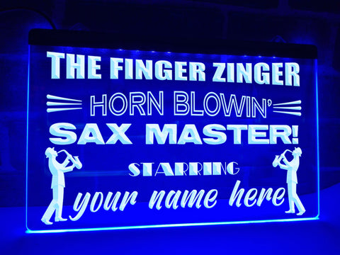Image of Sax Master Personalized Illuminated Sign
