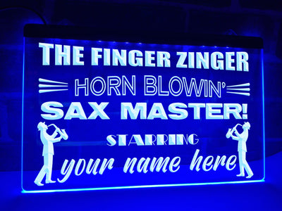 Sax Master Personalized Illuminated Sign