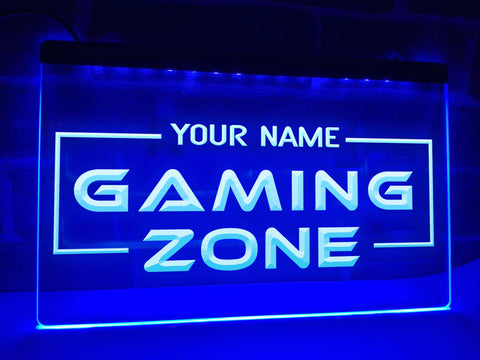Gaming Zone Personalized Illuminated Sign