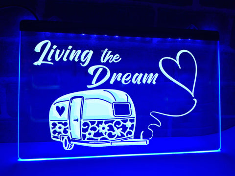 Living The Dream Illuminated Sign