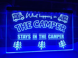 What Happens in the Camper Illuminated Sign