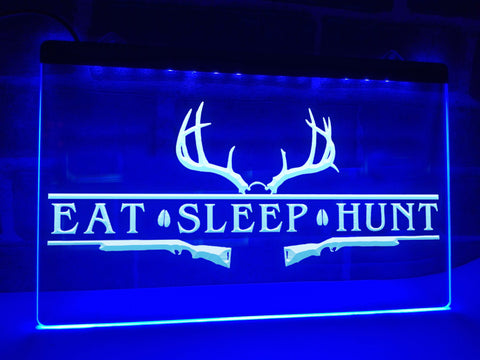 Image of Eat Sleep Hunt Illuminated Sign