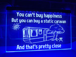 Static Caravan Illuminated Sign
