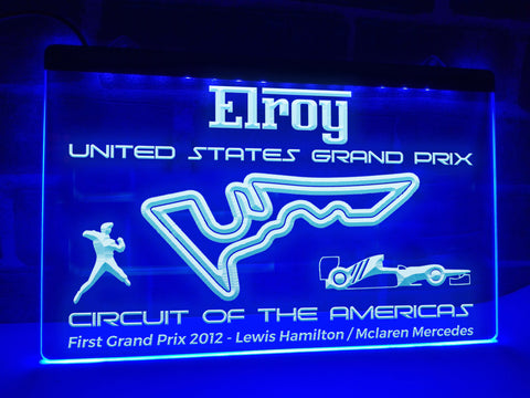 US Grand Prix Illuminated Sign